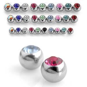 Šperky4U Náhradní kulička s kamínkem 1,2 x 4 mm, barva černá - ND01024-1204K