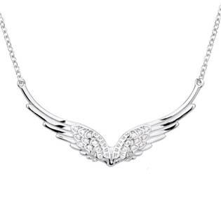 NB-2104 Stříbrný náhrdelník andělská křídla