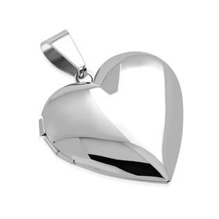 OPP1771-L Ocelový přívěšek - medailon otevírací srdce
