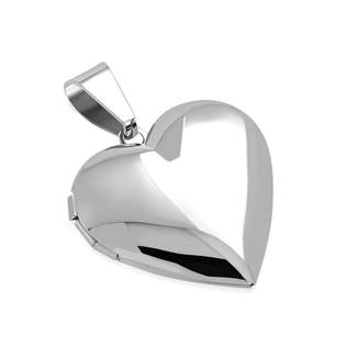 OPP1771-M Ocelový přívěšek - medailon otevírací srdce