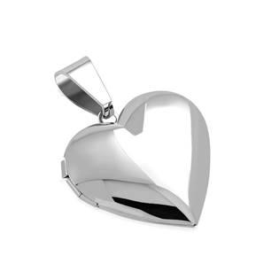 OPP1771-S Ocelový přívěšek - medailon otevírací srdce