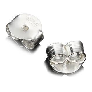 Náhradní stříbrný puzetový uzávěr - motýlek