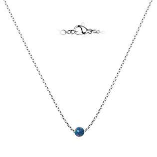 NBP60-OP01 Ocelový opálový náhrdelník - kulička 5 mm