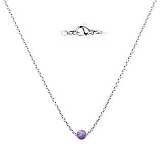 NBP60-OP38 Ocelový opálový náhrdelník - kulička 5 mm