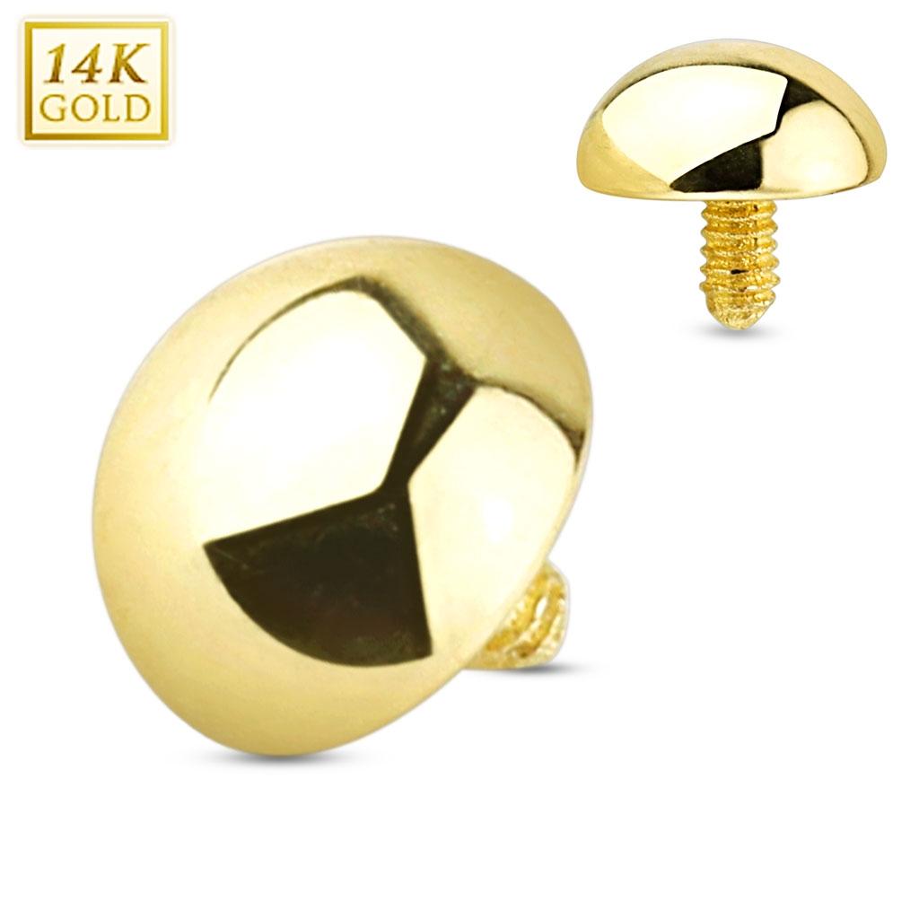 Zlatý piercing - dermál půlkulička 5 mm, Au 585/1000 ZL01047-05-YG