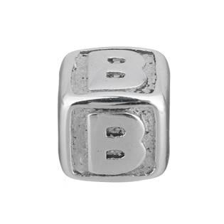 """Navlékací ocelový přívěšek korálek - písmeno """"B"""""""