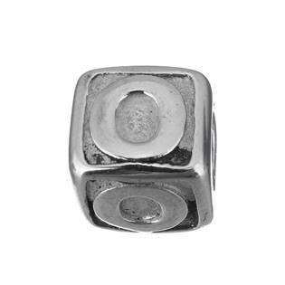"""Navlékací ocelový přívěšek korálek - písmeno """"O"""""""
