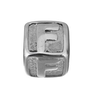 """Navlékací ocelový přívěšek korálek - písmeno """"F"""""""