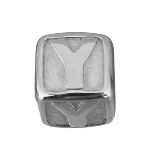 """Navlékací ocelový přívěšek korálek - písmeno """"Y"""""""