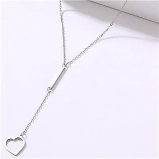 OPD0236-ST Ocelový náhrdelník se srdíčkem