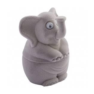 Dárková krabička semiš - slon šedý