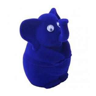 KR0082-B Dárková krabička semiš - slon modrý