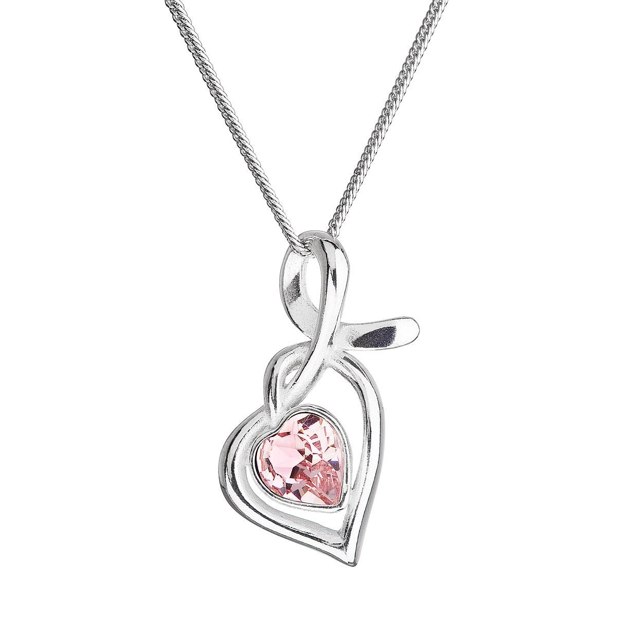 Stříbrný náhrdelník se Swarovski krystalem EG4256-P