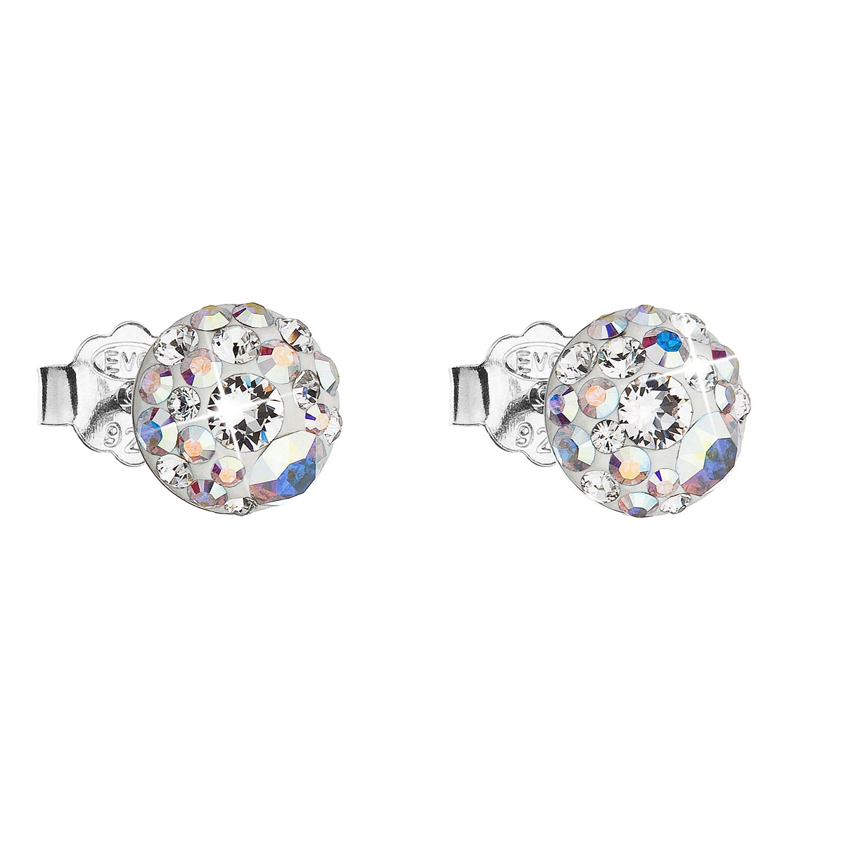 Stříbrné náušnice s krystaly Crystals from Swarovski® AB EG2008-ABX