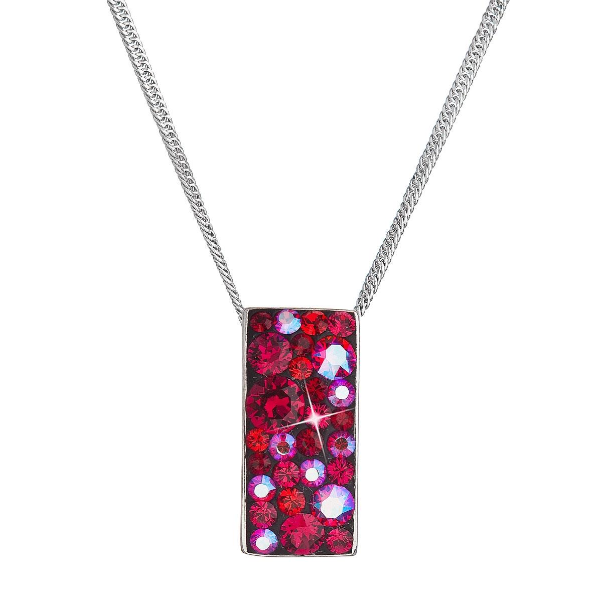 Stříbrný náhrdelník se Swarovski krystaly, Cherry EG4257-CH