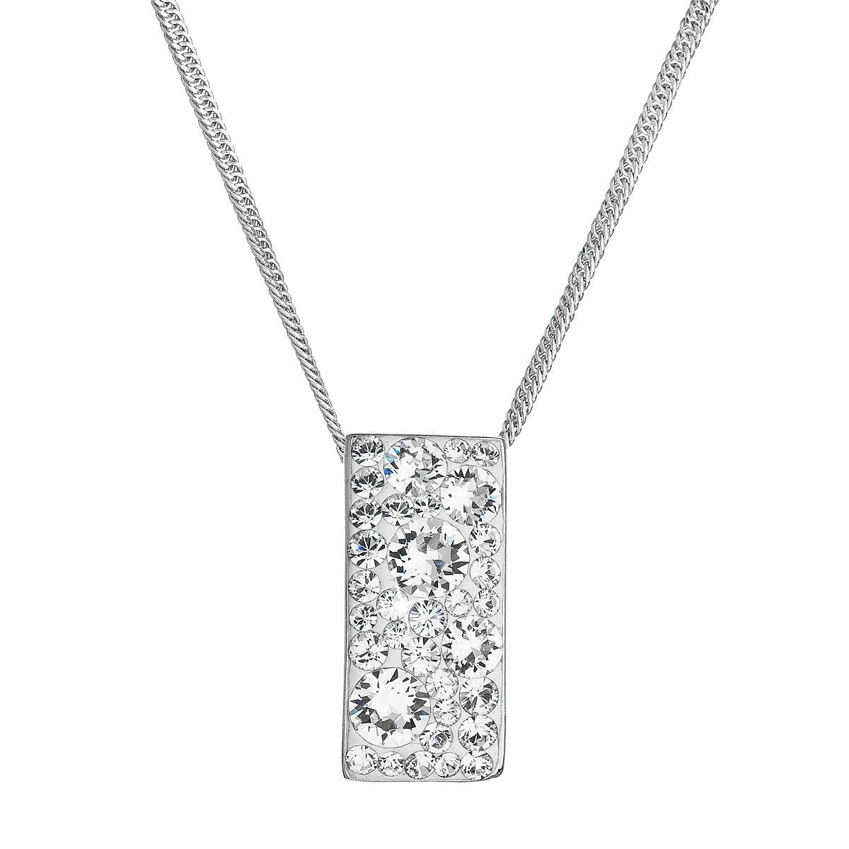 Stříbrný náhrdelník se Swarovski krystaly, Crystal EG4257-CR