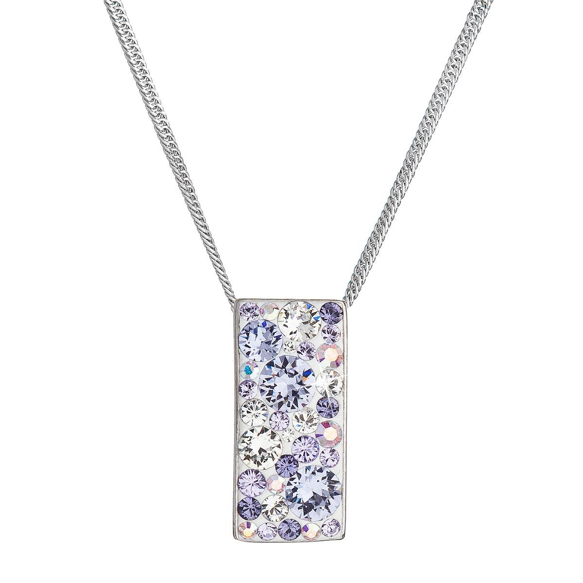 Stříbrný náhrdelník se Swarovski krystaly, Violet EG4257-VI