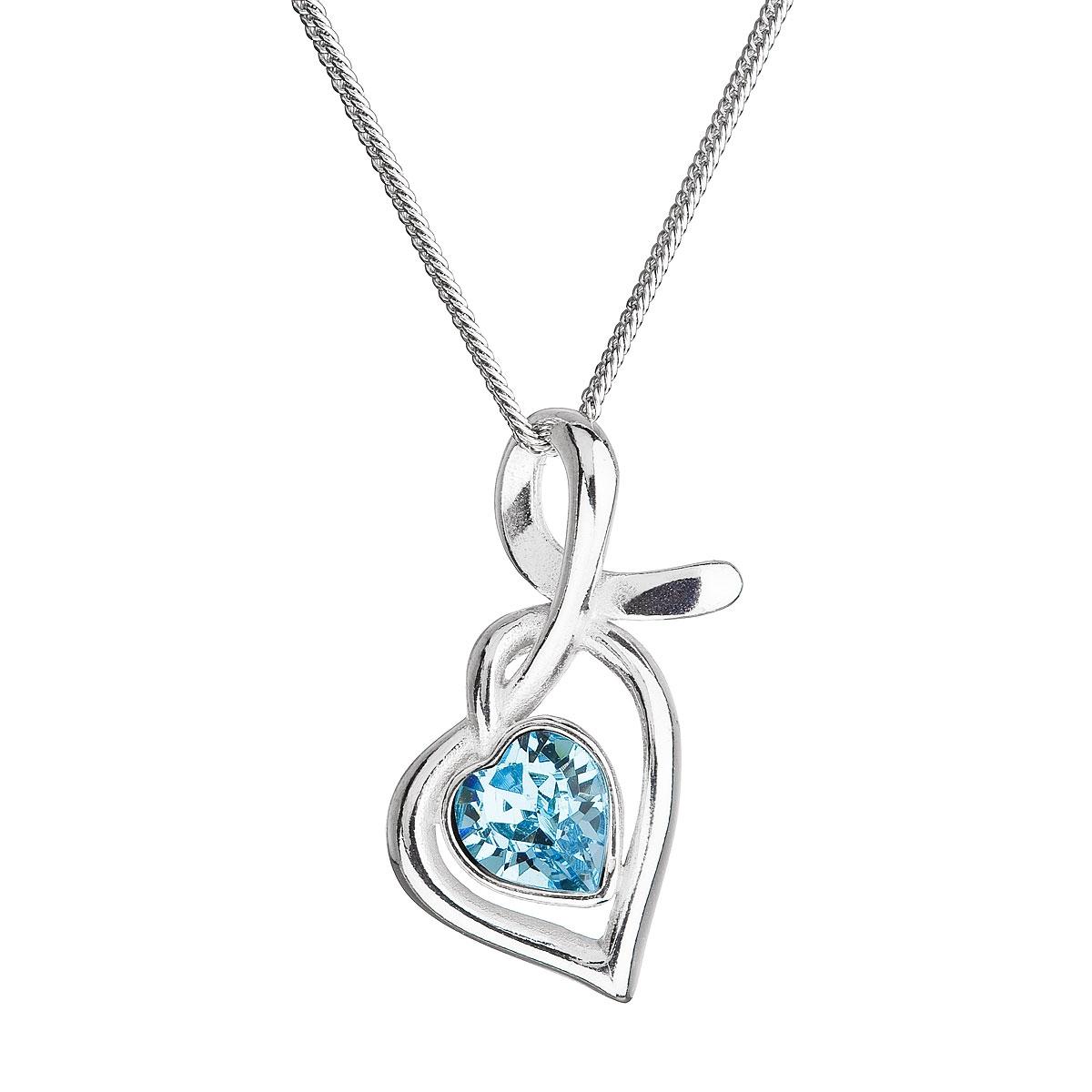 Stříbrný náhrdelník se Swarovski krystalem EG4256-Q