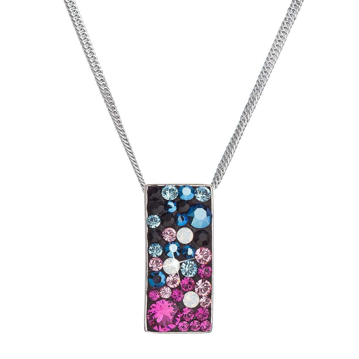 Stříbrný náhrdelník se Swarovski krystaly, Galaxy EG4257-GX