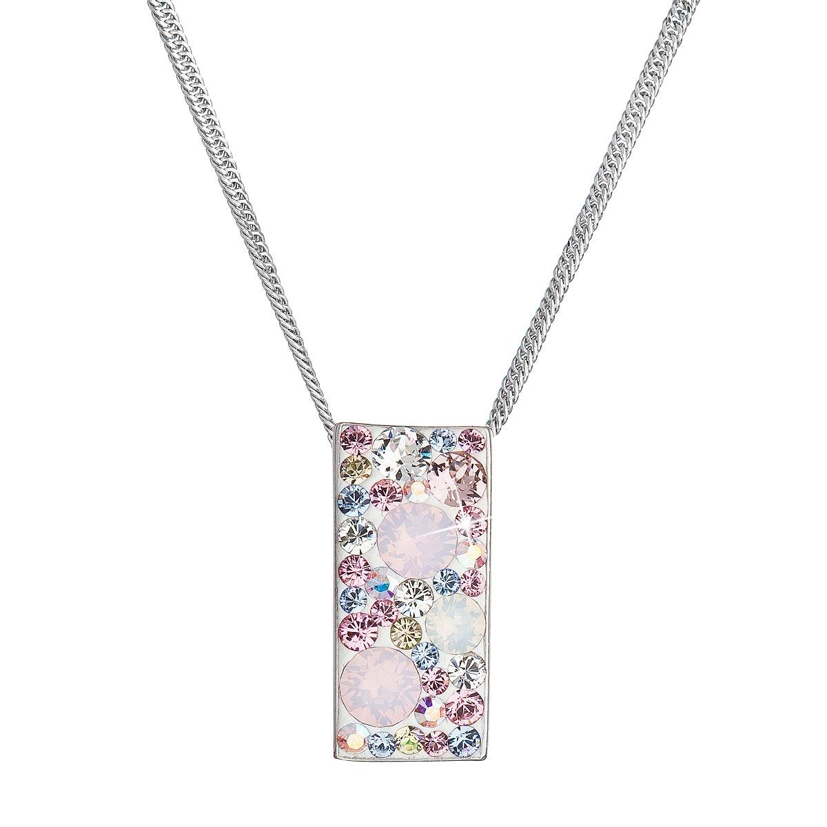 Stříbrný náhrdelník se Swarovski krystaly, Magic Rose EG4257-MR