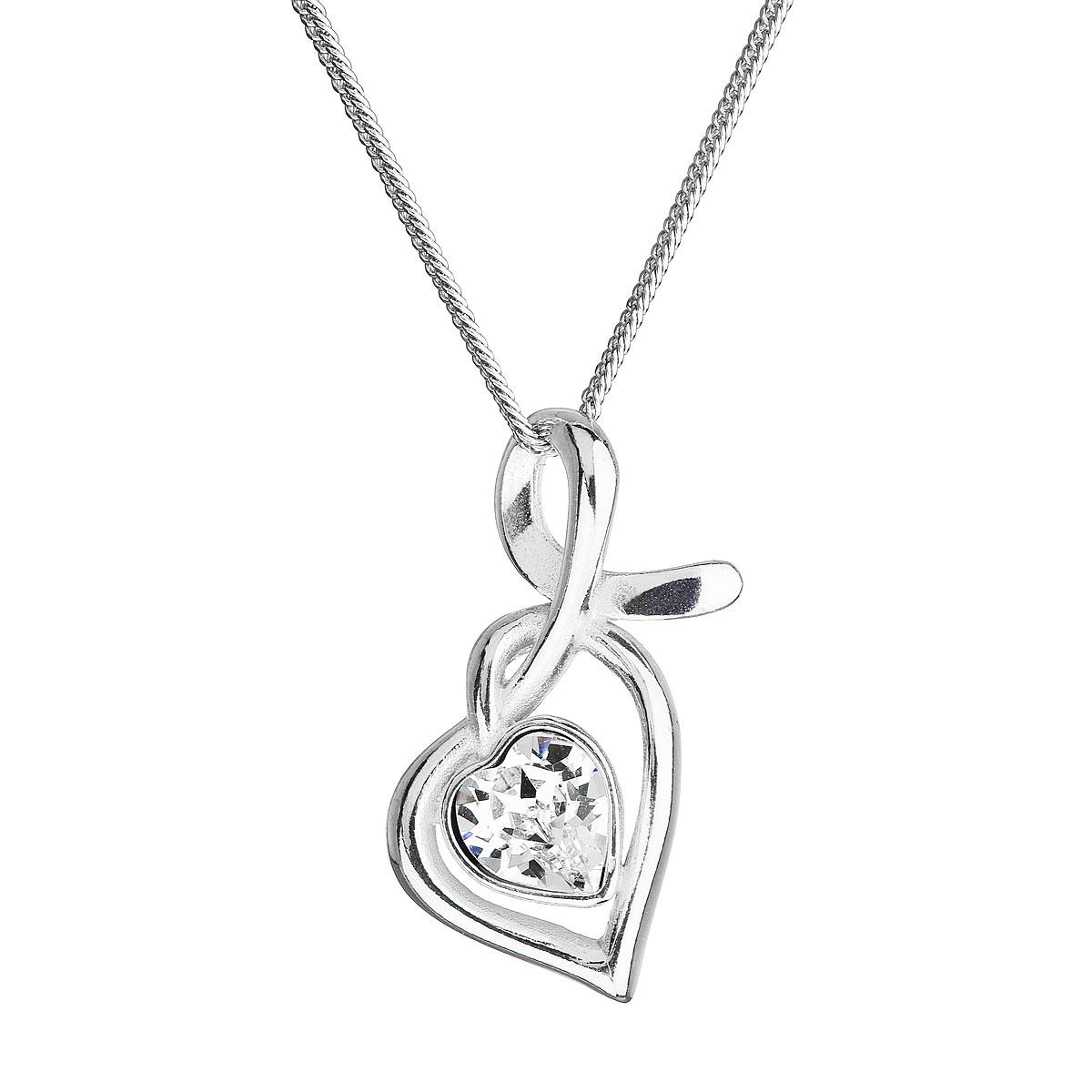 Stříbrný náhrdelník se Swarovski krystalem EG4256-CR