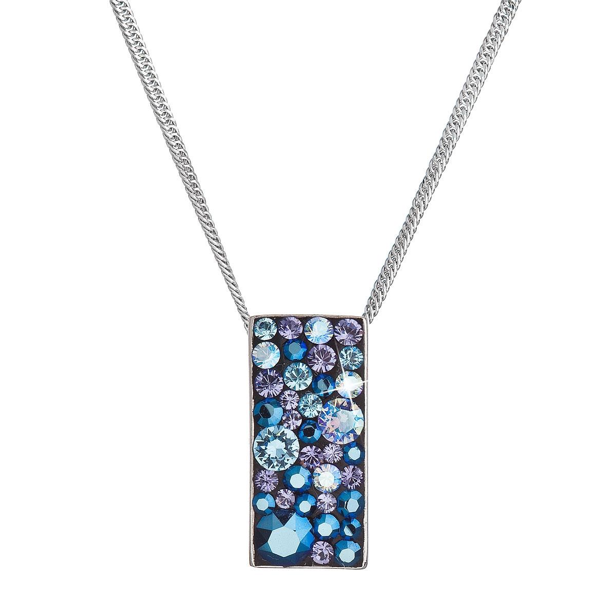 Stříbrný náhrdelník se Swarovski krystaly, Blue Style EG4257-BS