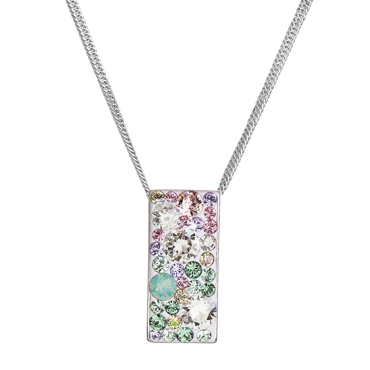 Stříbrný náhrdelník se Swarovski krystaly, Sakura EG4257-SK