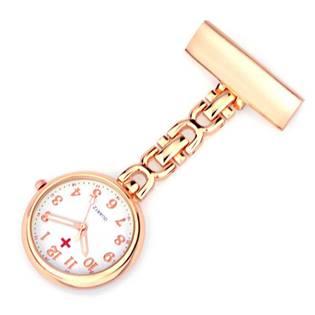 Zlacené připínací hodinky pro zdravotníky