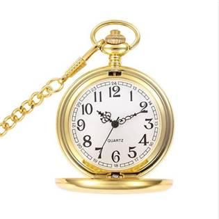 KH0001-GD Kapesní hodinky otevírací zlacené - cibule