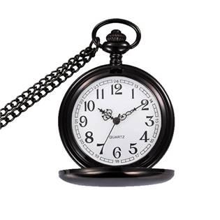 Kapesní hodinky otevírací - cibule černé