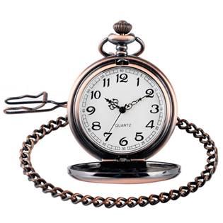 KH0001-MD Kapesní hodinky otevírací měděné - cibule