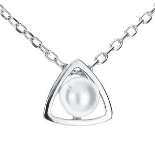 NB-2026 Střibrný náhrdelník s přírodní perlou