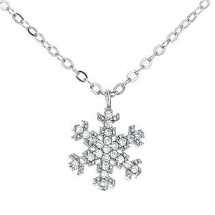 NB-2031 Střibrný náhrdelník sněhová vločka