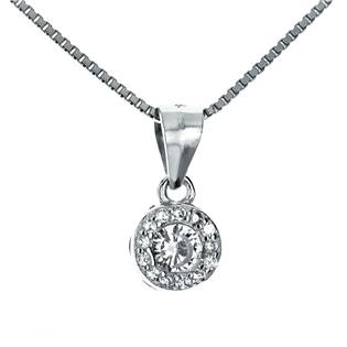 NB-2054 Stříbrný náhrdelník - zirkony