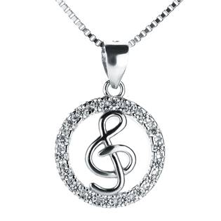 NB-2060 Stříbrný náhrdelník houslový klíč