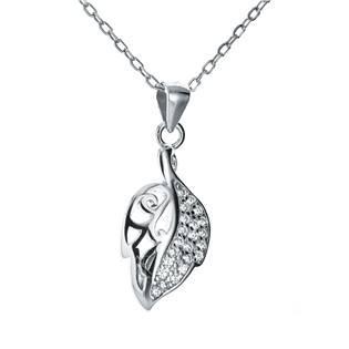 NB-2062 Stříbrný náhrdelník list