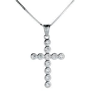 NB-2067 Stříbrný náhrdelník kříž