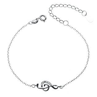 Dámský stříbrný náramek- houslový klíč