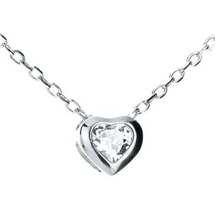 NB-2118 Střibrný náhrdelník se srdíčkem