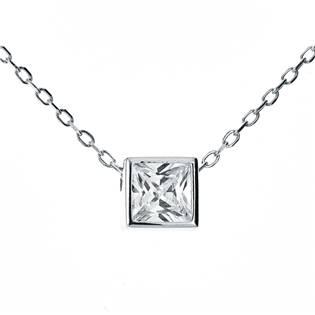 NB-2119 Střibrný náhrdelník s přívěškem - čtvereček