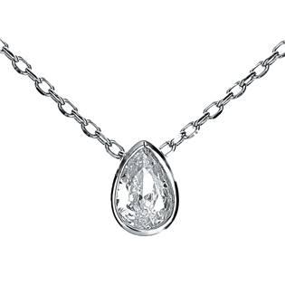 NB-2120 Střibrný náhrdelník s přívěškem - kapka