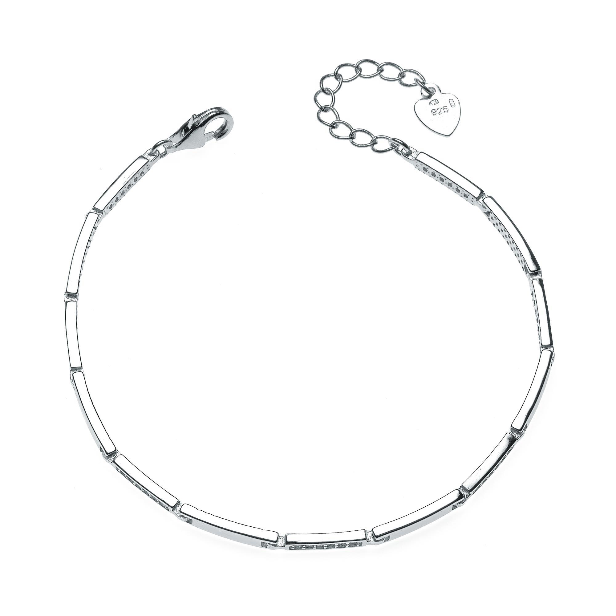 Dámský stříbrný náramek se zirkony NB-1064