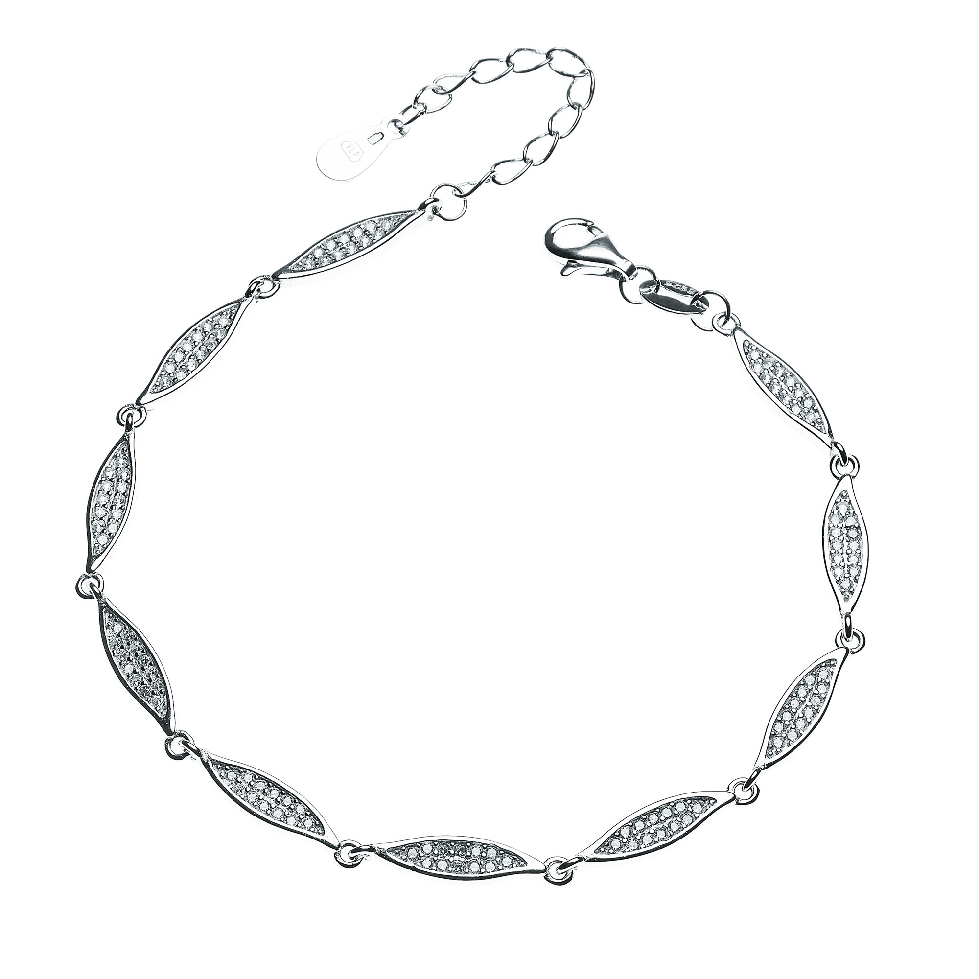 Dámský stříbrný náramek se zirkony NB-1066