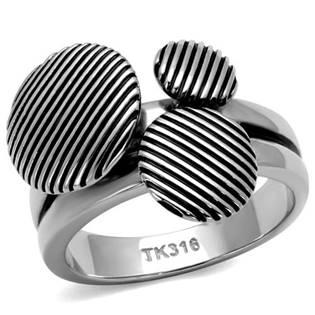 Levně Extravagantní ocelový prsten - velikost 55 - AL-0028-55