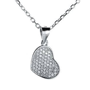 NB-2057 Stříbrný náhrdelník srdíčko