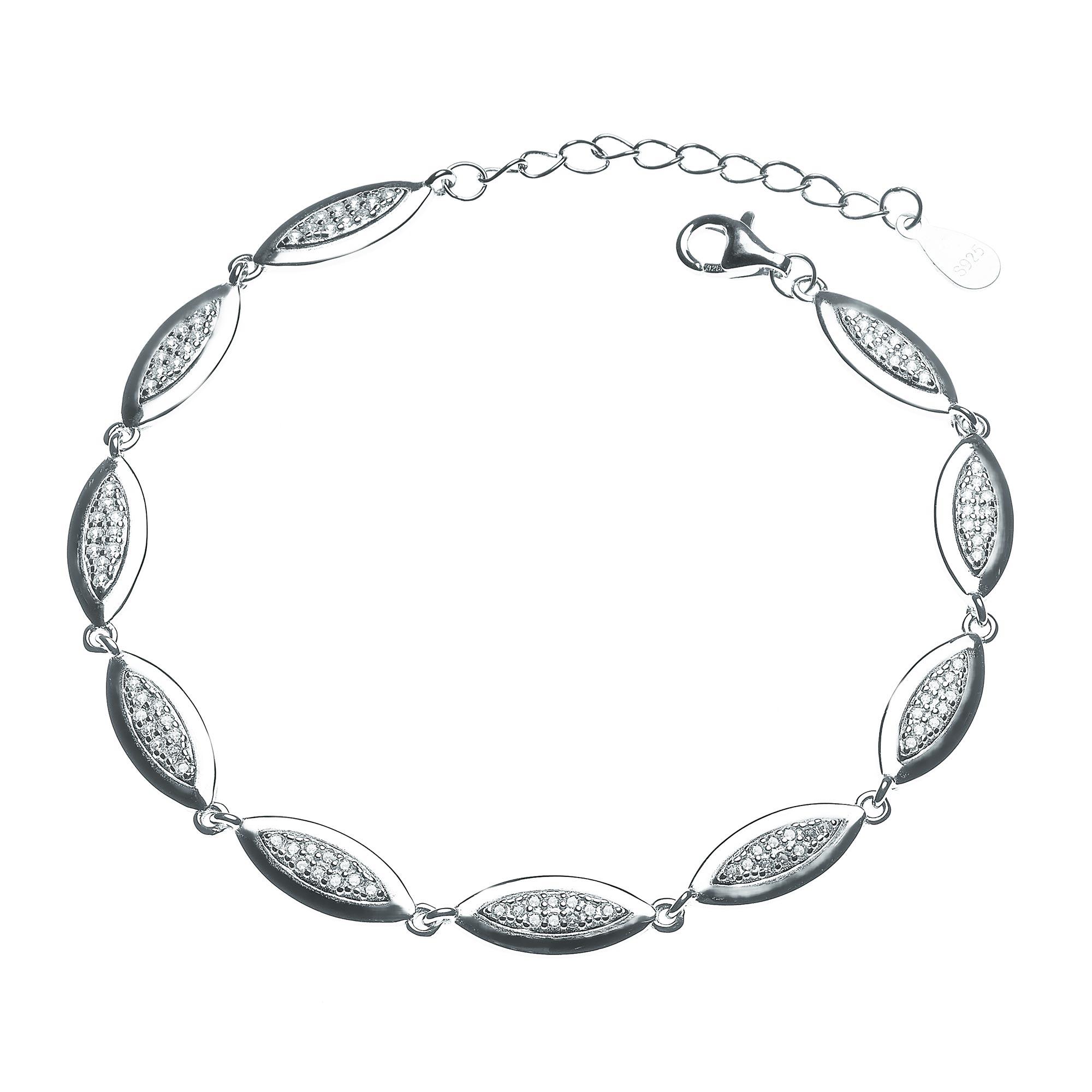 Dámský stříbrný náramek NB-1025