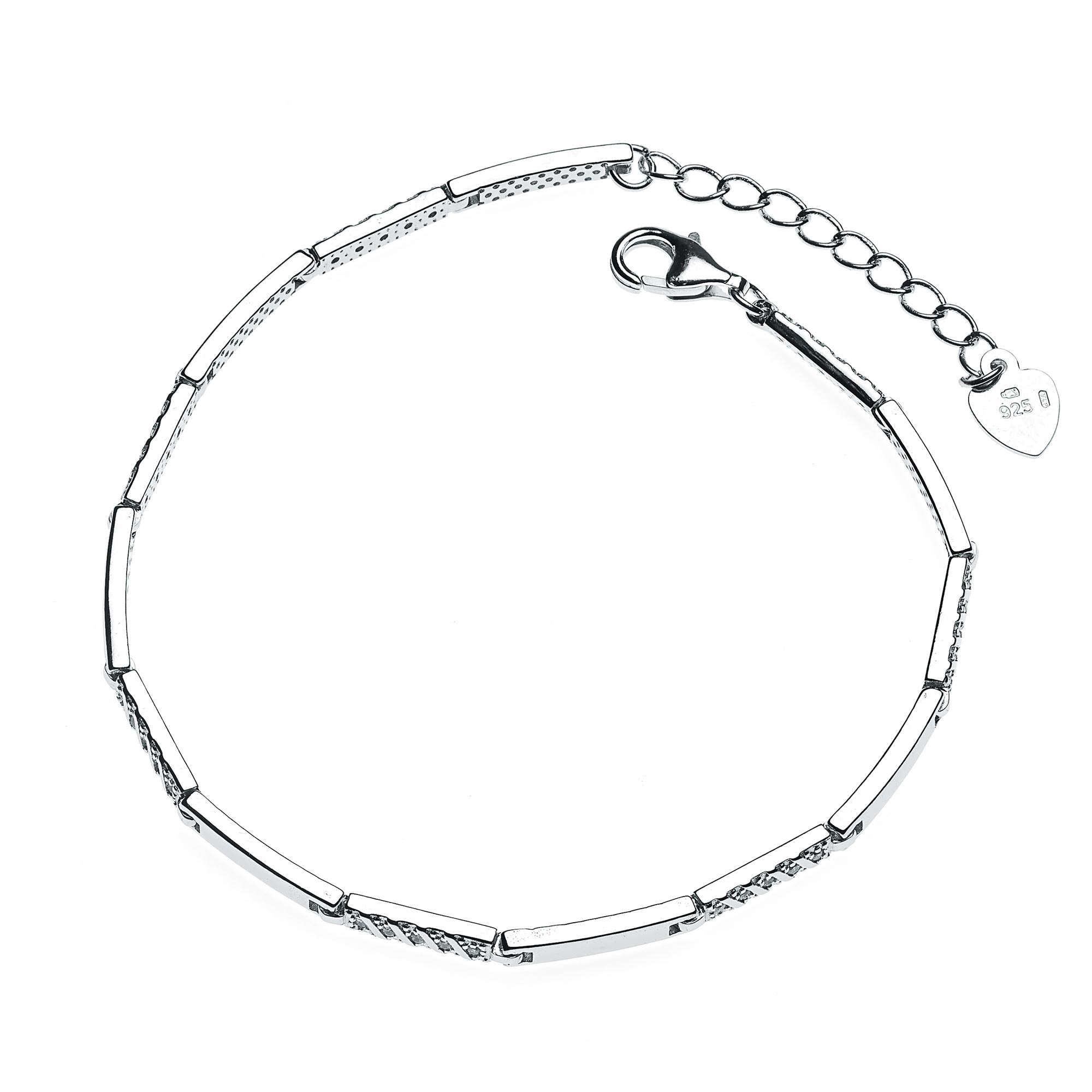 Dámský stříbrný náramek se zirkony NB-1065