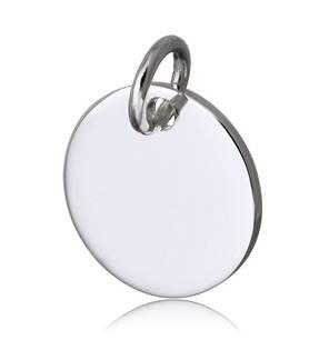 Ocelový přívěšek kolečko, 14 mm