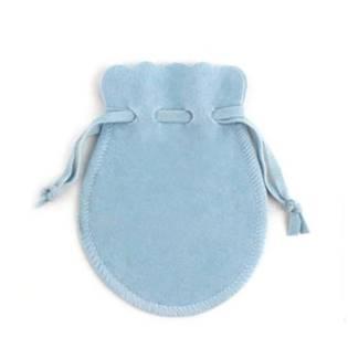 Semišový dárkový sáček světle modrý, 9 x 12 cm