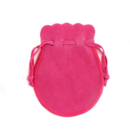 Semišový dárkový sáček tmavě růžový, 9 x 12 cm